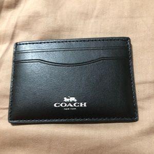 NWT coach rainbow leather card case.